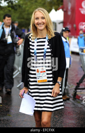 Sightings at the Commonwealth Games, Glasgow, Scotland  Featuring: Paula Radcliffe Where: Glasgow, United Kingdom - Stock Photo