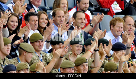 Sightings at the Commonwealth Games, Glasgow, Scotland  Featuring: Lord Sebastian Coe,Kate Middleton,Duchess of - Stock Photo