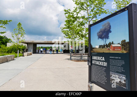 Entrance to the Flight 93 National Memorial, Stonycreek, near Shanksville, Somerset County, Pennsylvania, USA - Stock Photo