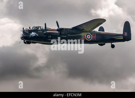 Avro Lancaster B1 second world war heavy bomber, operated by the RAF Battle of Britain Flight - Stock Photo