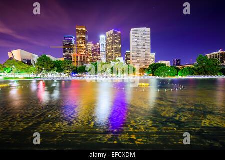 Los Angeles, California, USA downtown city skyline. - Stock Photo