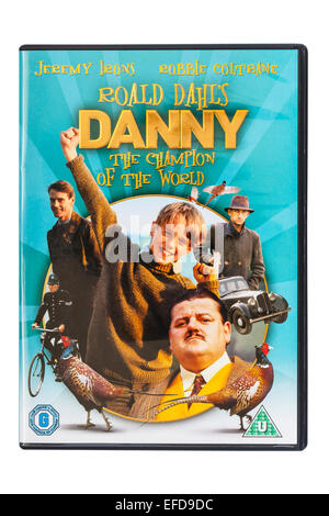 Roald Dahl's Danny the champion of the world film DVD on a white background - Stock Photo
