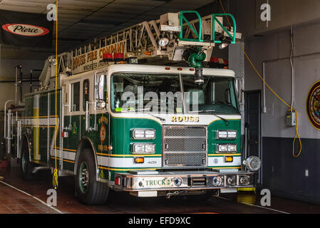 Charley Rouss Volunteer Fire Company, 3 South Braddock Street, Winchester, VA - Stock Photo