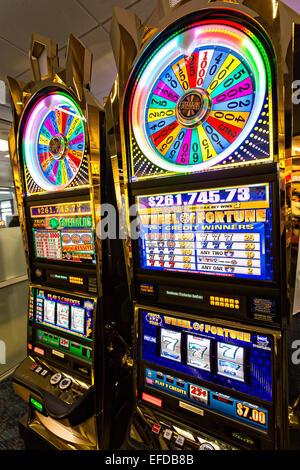 Slot machine in a casino Las Vegas, Nevada. - Stock Photo