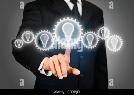 Brainstorming idea - Stock Photo