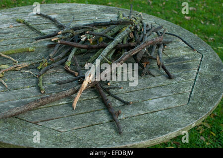 sticks on a table - Stock Photo