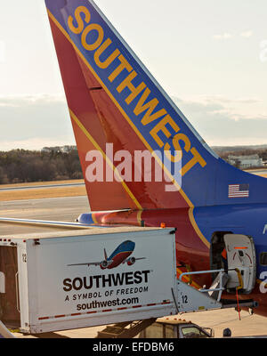Airplane Southwest Airlines Boeing 737 Jet Landing At Ontario Stock