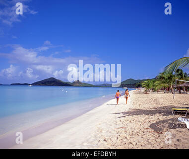 Jolly Beach Resort & Spa, Saint Mary's Parish, Antigua, Antigua and Barbuda, Lesser Antilles, Caribbean - Stock Photo