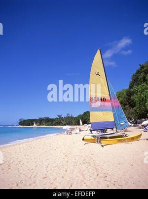 Sandy Lane Beach, Saint James Parish, Barbados, Lesser Antilles, Caribbean - Stock Photo
