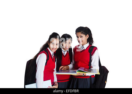 Students with book bags posing Stock Photo, Royalty Free ...