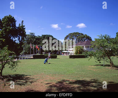 Sandy Lane Hotel Golf Course, Holetown, Saint James, Barbados, Lesser Antilles, Caribbean - Stock Photo