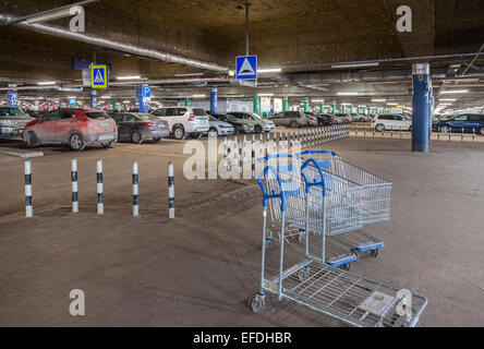 car parking interior shopping mall stock photo royalty free image 140775652 alamy. Black Bedroom Furniture Sets. Home Design Ideas