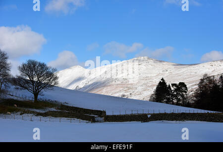 Ill Bell and Yoke. Troutbeck Valley, Lake District National Park, Cumbria, England, United Kingdom, Europe. - Stock Photo