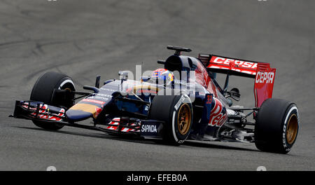 Jerez de la Frontera, Southern Spain. 2nd February, 2015. Dutch Formula One driver Max Verstappen of Scuderia Toro - Stock Photo