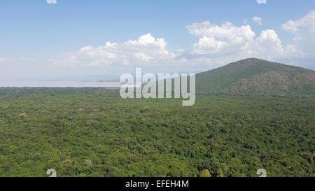 Nechisar National Park with Lake Chamo, Ethiopia, Africa - Stock Photo