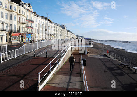 Hastings East Sussex UK - Hastings and St Leonards seafront January 2015 - Stock Photo