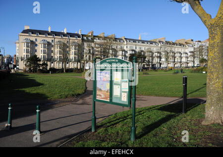 Hastings and St Leonards East Sussex UK - Warrior Square and Gardens - Stock Photo