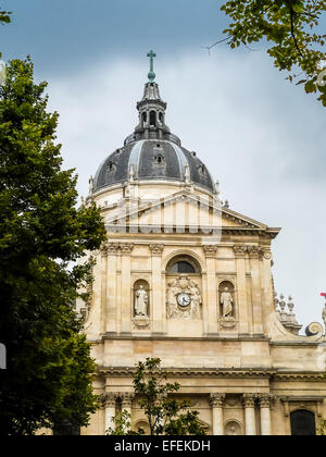 Famous Sorbonne University in Paris, France - Stock Photo