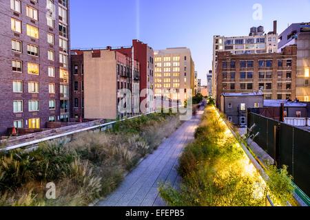 New York City, USA on the High Line Park. - Stock Photo