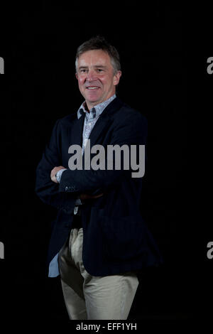 A portrait of John McCarthy at the Edinburgh International Book Festival 2012 in Charlotte Square Gardens  Pic by - Stock Photo