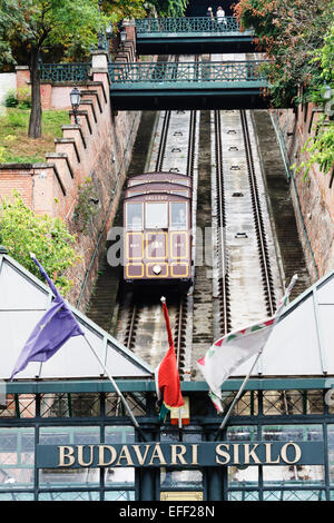 Budapest Castle Hill Funicular. Hungary - Stock Photo