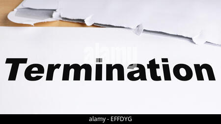 termination letter - Stock Photo