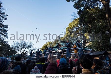 Setsubun Festival,Yoyogihachiman shrine,Shibuya-Ku,Tokyo,Japan - Stock Photo