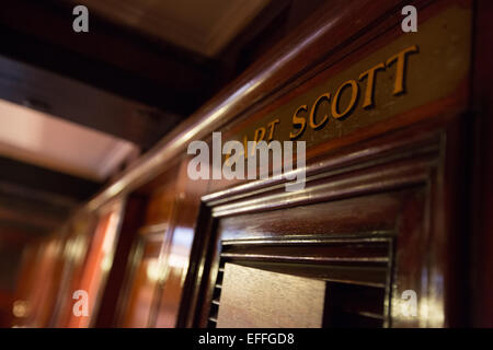 RRS Discovery, the ship of Captain Robert Falcon Scott and Ernest Shackleton, in Dundee's Discovery Point, Dundee, - Stock Photo