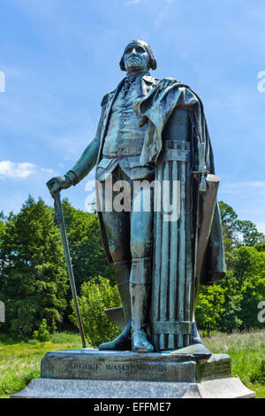 Statue of George Washington near his headquarters in Valley Forge National Historical Park, Pennsylvania, USA - Stock Photo