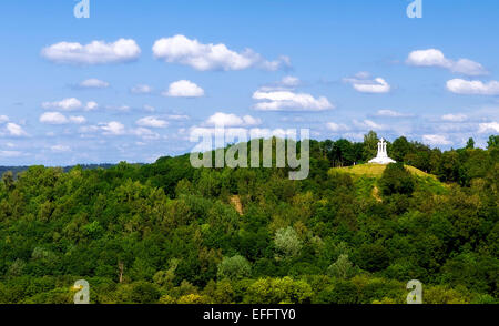 The Three Cross Hill in Vilnius, capital of Lithuania - Stock Photo