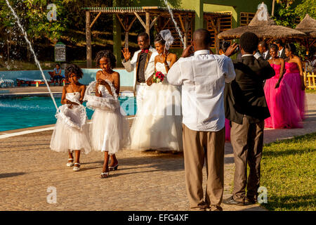 The Bride and Groom and Wedding Party In Arba Minch, Ethiopia - Stock Photo
