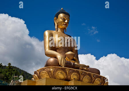 BHUTAN - Buddha statue under construction above Thimphu. This Buddha Dordenma will be the world's largest at 192.6 - Stock Photo