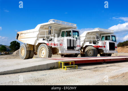 Vehicles involved in a mine extraction of talc. - Stock Photo