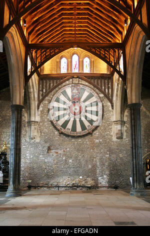 King Arthur's round table in Winchester - Stock Photo