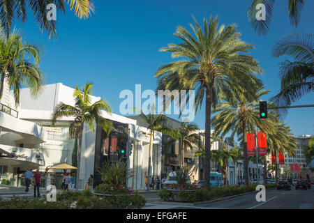 NORTH RODEO DRIVE BEVERLY HILLS LOS ANGELES CALIFORNIA USA - Stock Photo