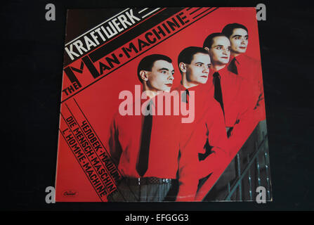 front cover of the 1978 kraftwerk album, the man machine - Stock Photo