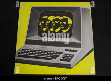 front cover of the 1981 kraftwerk album, computer world - Stock Photo