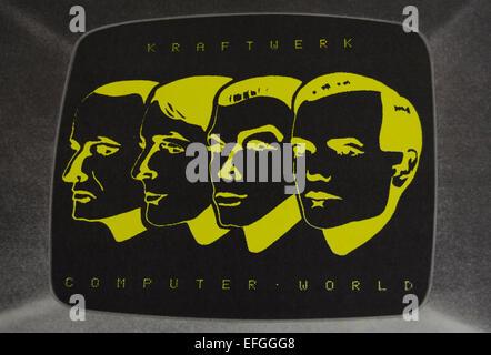 front cover detail of the 1981 kraftwerk album, computer world - Stock Photo