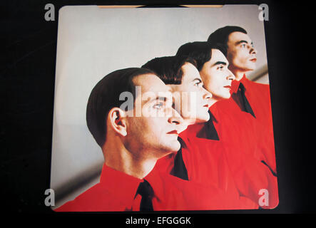 inside cover of the 1978 kraftwerk album, the man machine - Stock Photo