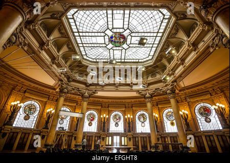 Palazzo della Borsa, Piazza de Ferrari, UNESCO World Heritage Site, Genoa, Liguria, Italy - Stock Photo