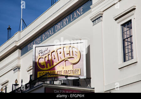 Charlie and the Chocolate Factory on Theatre Royal Drury Lane in Covent Garden in London UK - Stock Photo