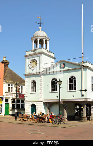 the guildhall faversham in the town square built in 1574 - Stock Photo