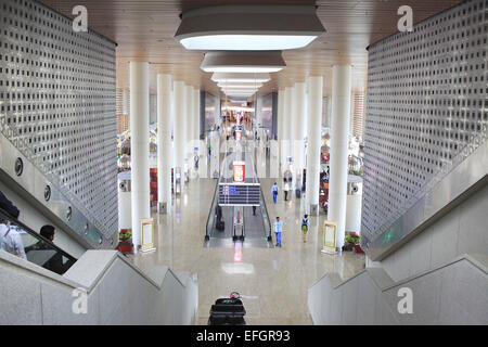 Mumbai, Maharashtra, India. 24th Dec, 2014. 24 december, Mumbai - India:.A view of the interiors of the Mumbai T2 - Stock Photo