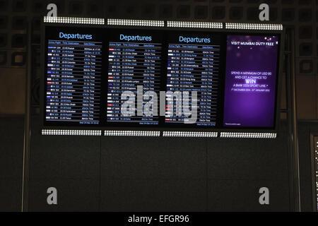 Mumbai, Maharashtra, India. 24th Dec, 2014. 24 december 2014 - Mumbai - INDIA :.Flight Departure information at - Stock Photo