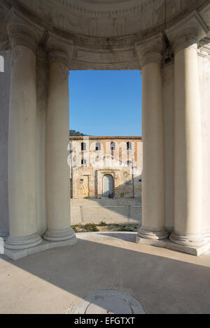 Ancona , The Mole Vanvitelliana , built by Vanvitelli in 1743 , the temple of St. Rocco - Stock Photo
