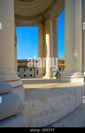 Marche , Ancona , Mole Vanvitelliana , temple of St. Rocco . - Stock Photo