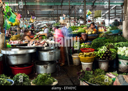 Covered market in Can Tho, Vietnam.