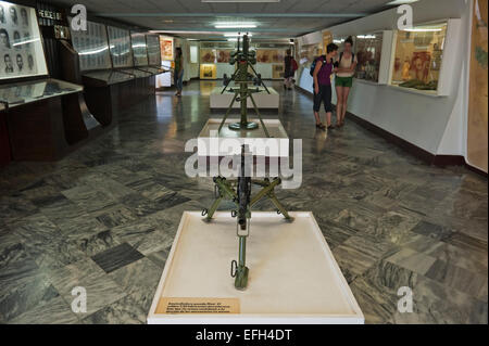 Horizontal view of the Bay of Pigs museum (Musee Giron) in Cuba. - Stock Photo