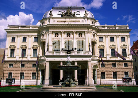 slovakia, bratislava, slovak national theatre - Stock Photo