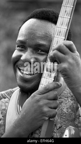 Duncan Senyatso, Afro jazz-fusion singer & guitarist from Botswana. Photographed in Edinburgh 2003  Photograph by - Stock Photo
